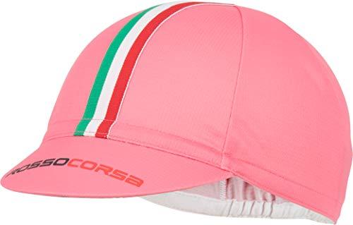 Castelli Rosso Corsa Cycling Cap, Giro Pink, OSFA