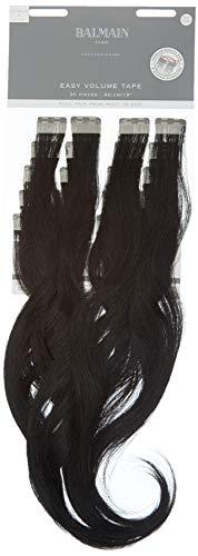Balmain Easy Volume Tape Extensions de cheveux humains 20 pièces Longueur 55 cm 1 Noir 82 g