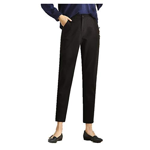 N\P Otoño de lana pantalones de traje de mujer sueltos nueve puntos pantalones rectos grandes pantalones casuales