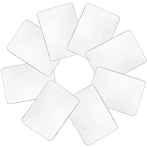 Hamiggaa - Juego de 8 manteles individuales de plástico, lavables y transparentes, resistentes al calor, lavables para mesa, comedor, cocina (43 x 28 cm)