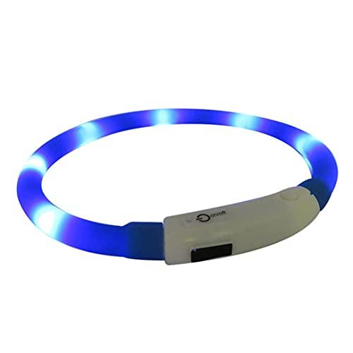 YLXAJKJGS-XCH Collar de luz LED para Mascotas, Collar Impermeable de Silicona, Collar de Noche antipérdida para Mascotas, Collar de Perro de Carga Luminosa Fluorescente USB