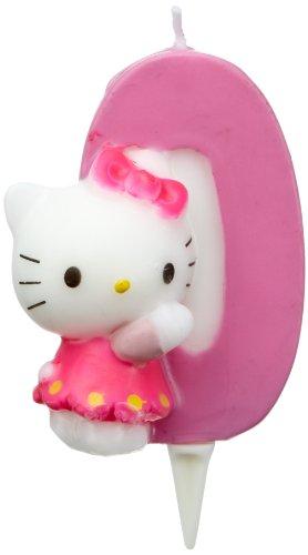Dekoback 02-08-00177 Candelina col numero 0 Hello Kitty