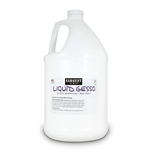 Sargent Art Gallon Gesso, Surface Primer, 128oz, White