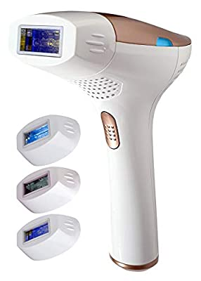FAUSTINA 3-in-1 IPL (4 Lamps 2,000,000 Shots) Hair Removal, Skin Rejuvenation, and Acne Clearance Device - Completely Painless - Full Results After 3-7 Treatments - Free Sunglasses. by LaboTest Ltd.