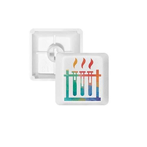 DIYthinker Verschillende Temperaturen Test Tube Chemie PBT Keycaps voor Mechanisch Toetsenbord Wit OEM Geen Markering Print, R2, Multi kleuren
