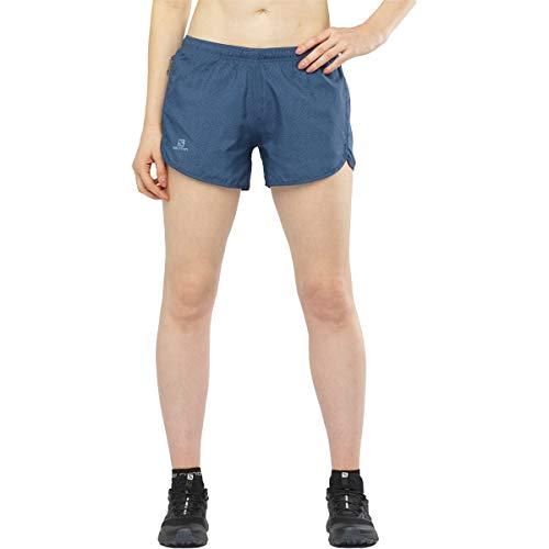 SALOMON Agile Short W Shorts para Running, Azul (Dark Denim), Talla S para Mujer