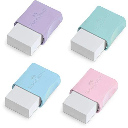 Borracha Marshmallow 4 Cores Sortidas Tons Pastel 24 Unidades, Faber-Castell