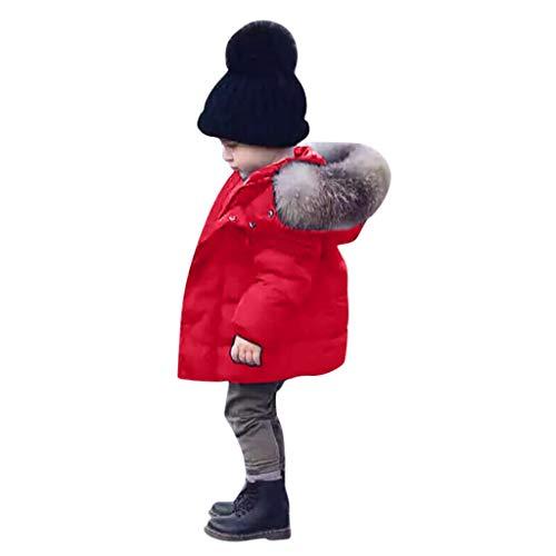 Dasongff wintermantel baby kinderen 1-7 jaar oud jongens jas gewatteerde jas met capuchon winter bovenkleding mantel dikke kinderjas winterjas warme gegoten jas met capuchon