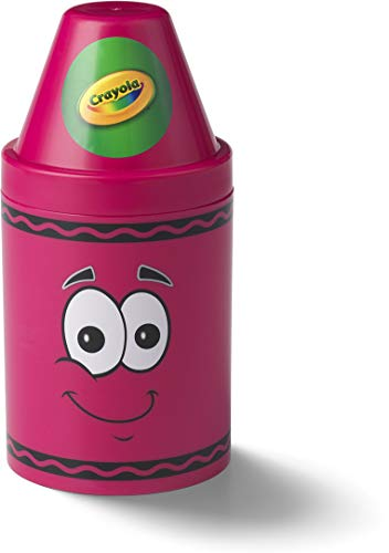 Crayola Storage Container, Large, 5-1/2 x 12 Inches, Razzmatazz (20050214)
