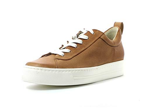 Paul Green Damen Sneaker 4951, Frauen Low-Top Sneaker, lose Einlage, feminin elegant Women's Women Woman Freizeit leger Lady,Cuoio,40.5 EU / 7 UK