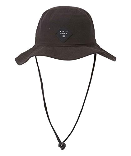 Billabong Men's Big John Safari Sun Protection Hat with Chin Strap, Black, One