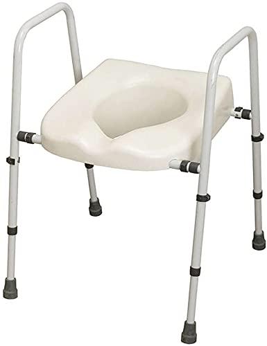 NRS Healthcare n36974Mowbray Toilettensitz und Rahmen Lite–Breite verstellbar–fertig montiert