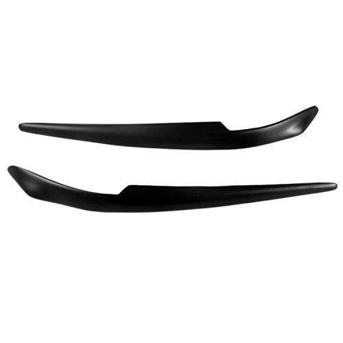 Gfhrisyty para Lancer-Ex EVO 2008-2016, Pegatina Negra Brillante para Coche, Faros Delanteros, Accesorios para Cubierta de PáRpado de Cejas