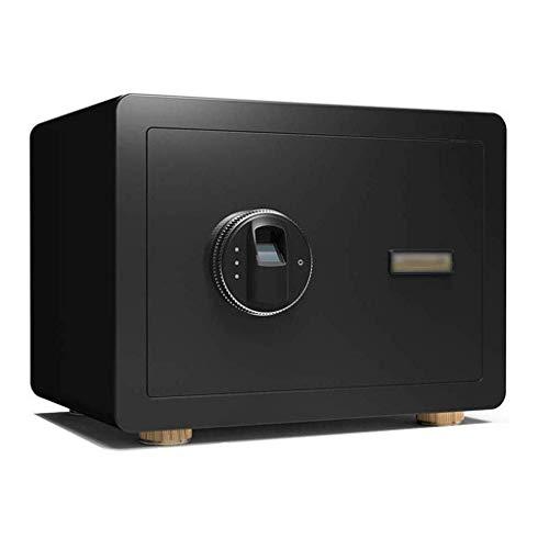 Cajas fuertes para gabinetes, caja fuerte para el hogar, pequeña, 25 cm, huella digital, contraseña, sigilo, mini cajas fuertes a prueba de fuego, antirrobo para pared, caja fuerte para mesita de noch