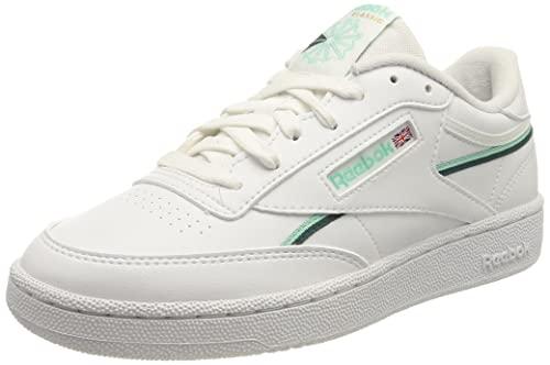 Reebok Herren Club C 85 VEGAN Sneaker, FTWR White/hint Mint/Midnight Pine, 44 EU