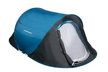 DUNLOP 2 Personnes Pop-up Tente Camping Outdoor, Bleu/Gris, 255 x 155 x 95 cm