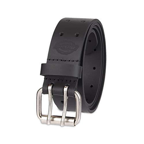 Dickies Men's Leather Double Prong Belt, Black, 40 (Waist: 38)