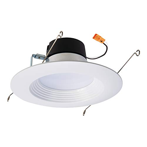 Halo LT560WH6930R-CA 5 in. and 6 Integrated LED Recessed Retrofit Downlight Trim, 90 CRI, Title 20 Compliant, 5 inch and 6 inch, 3000K Soft White
