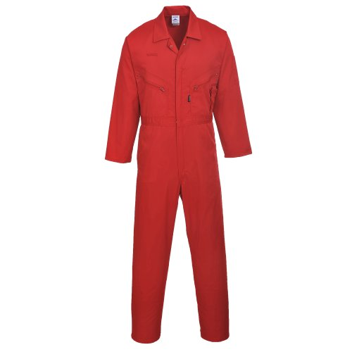 Portwest Mens Liverpool Zip Up Protective Workwear Coverall (Small x Regular) (Red)
