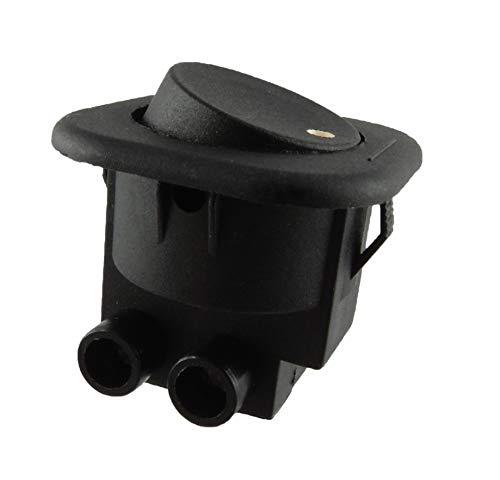 Einbau Wippenschalter, Wippschalter 6A 250V~ Schraubkontakten, Schwarz mit rote wippe (Schwarze Wippe)