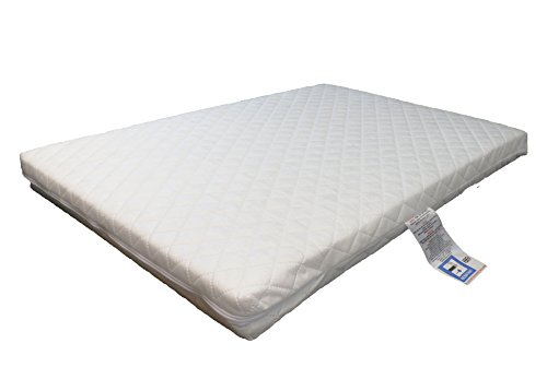 Laura Deluxe Hypo-Allergenic Eco Air Flow Quilted Dual Sided Travel Cot Mattress 95 x 65cm x 7cm Extra Thick British Made