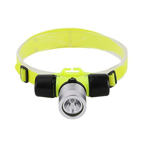 RongWang Lámpara De Cabeza De Luz LED De Buceo XPE Impermeable Al Aire Libre, Lámpara De Cabeza De 2000 Lúmenes, Linterna De Cabeza De Buceo, Linterna para Nadar, Acampar