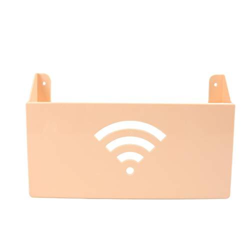 Yardwe Estante Router de Pared WiFi Cable Cajas de Almacenamiento(Beige)
