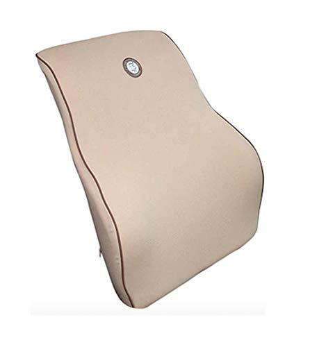 Ducomi Flex Cojín Ortopédico Lumbar para Asientos en Espuma Viscoelástica - Soporte Ergonómico para Espalda, Colocar en Sillas - Alivia el Dolor Lumbar, Mantiene la Postura (Beige)