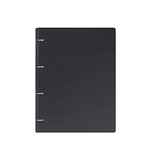 JUGTL Cuaderno Para A4 Libro De Hojas Sueltas Engrosado Ruled Diario Negocios A5 Simple B5 Reunión Libreta Notas Negro A5 160*230mm