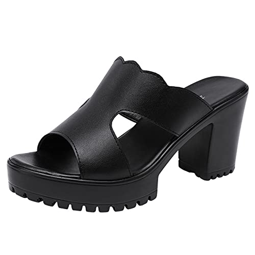 Zapatillas de Plataforma con tacón Zapatos de Boda para Mujer Verano 2021...