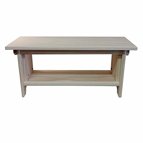 "Deluxe Children's Personal Sitting Bench (28""×11""×13"" tall) UNFINISHED PINE - Made in the USA"