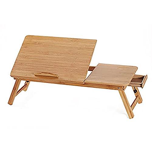 Mesas para ordenador Mesa plegable, plegable portátil de bambú para computadora portátil sofá cama casera portátil soporte computadora portátil escritorio mesa mesa de comedor más tamaño ( Color : A )