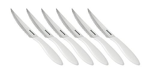 Tescoma Steakmesser, Silber/weiß, 29.5 x 12 x 1.8 cm, 6