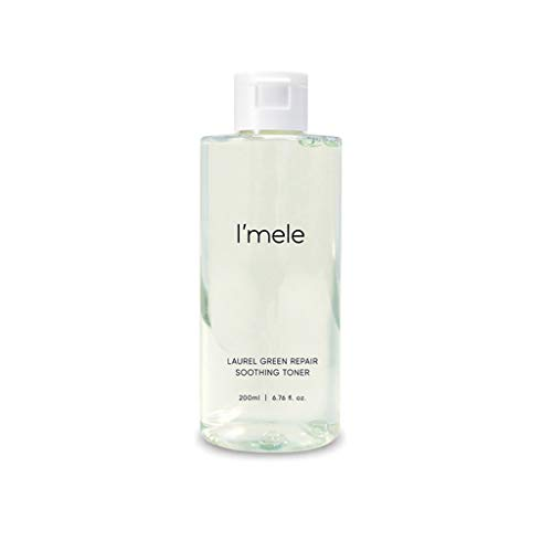 I'mele Laurel Green Repair Soothing Toner for Sensitive Skin - Hypoallergenic with Tea Tree & Tiger Grass Extracts - for Dry Skin - Alcohol, Paraben, Fragrance-free, Korean Skin Care-16.90 fl. oz.
