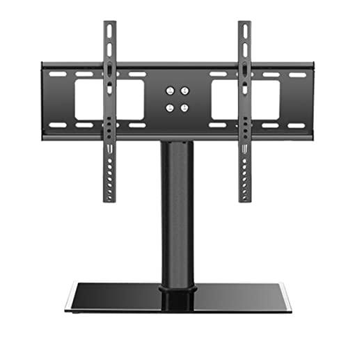 YYBD Supporto TV Tavolo Base in Vetro temperato per TV da 32-55 Pollici Regolabile in Altezza Supporto Piedistallo TV VESA Fino a 400x300mm