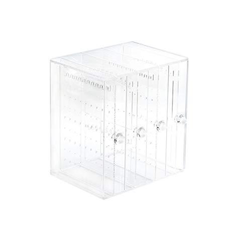 ZHUSHI Pendientes y collar soporte de exhibición de acrílico pendientes de gran capacidad caja de almacenamiento de escritorio exhibición de joyería estante de exhibición