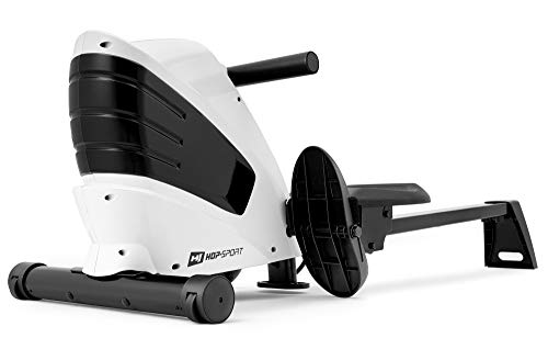 HOP-Sport RAMEUR MAGNÉTIQUE À TIRAGE Central Cross HS-060R Fitness Blanc d'inertie 9 kg Max. 120 kg freinage magnétique