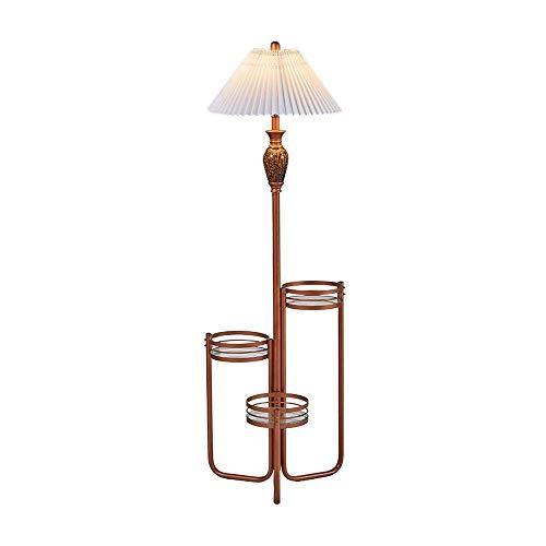 GLXLSBZ Lámpara de pie con estantes Lámpara de pie Moderna con Estante, la lámpara de pie es Adecuada para el Dormitorio y la Sala de Estar IKEA Storage Standing Lam (decoración del hogar)
