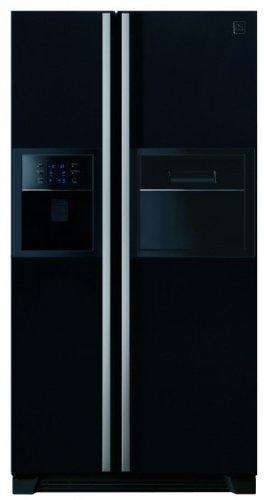 Daewoo FRN-U20GFBI koelkast, 518 l, A+, zwart, zijdeur – Side-by-Side koelkast (zwart, Amerikaanse deur, toetsen, R600a, glas)