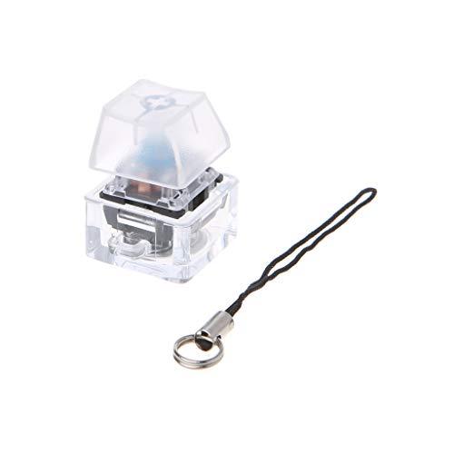 Gjyia Mechanischer Schalter Keychain Light Up Backlit für Keyboard Switches Tester Kit Blau 2cm