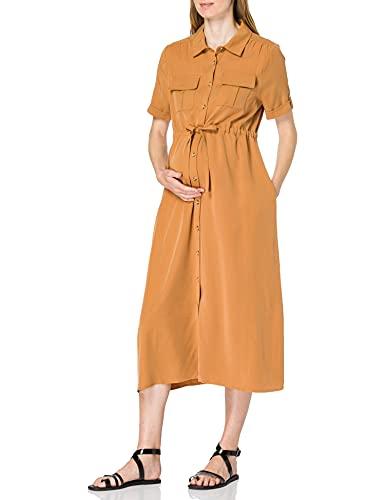 Esprit Maternity Dress wvn SS Vestido, Acorn Beige 249, 36 para Mujer