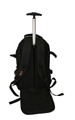 31QtAUVmweL - Mochila Trolley Portatil BENZI BZ4515, 52cm 2 Ruedas (Negro)