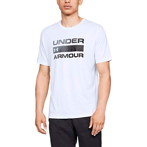 Under Armour Herren Ua Team Issue Wordmark Short Sleeve T-Shirt, Weiß, Medium