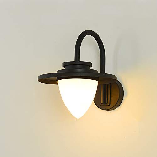 Moderne designer wandlamp binnen buitenverlichting buiten-wandlamp ronde look waterdichte IP44 E27 buitenlamp voor cafe winkel landhuis balkon ingang terras tuin trappen, zwart