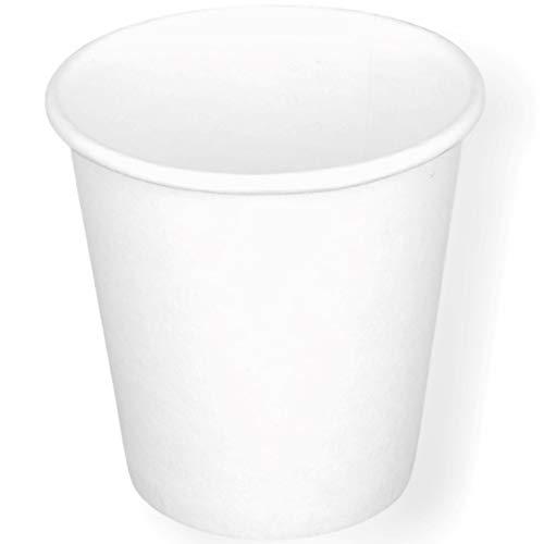 Bicchierini in Carta 90ml Riciclabile Monouso Biodegradabile Compostabile per caffè Espresso Lungo Macchiato Bicchierini Eco compatibili (Bianco, 1600)