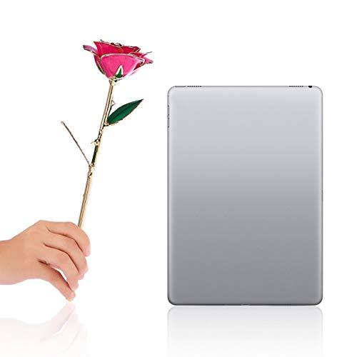 SALUTUYA Die Schöne und das Biest Rose 24K Ewige vergoldete Rose, rote Rose Valentinstag Blumengeschenke für ihre Goldfolienrose