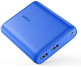 Anker PowerCore 13000, Compact 13000mAh 2-Port Ultra-Portable Phone Charger Power Bank with PowerIQ and VoltageBoost Technology for iPhone, iPad, Samsung Galaxy (Blue)
