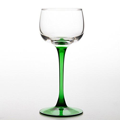 6 traditionelle Elsässer Weingläser