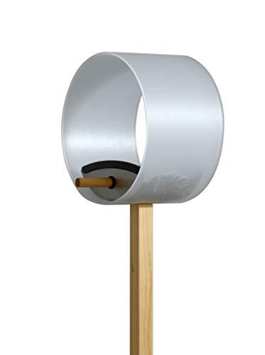 Keilbach Designprodukte 63000 Keilbach, rundes Vogelhaus pick.up, aus transluzentem Kunststoff/Edelstahl, mit Saugnapf für das Fenster oder zum Aufhängen, Klassiker seit 2006, Grau, One Size