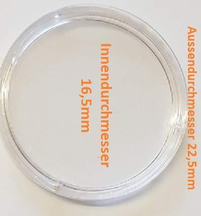 ak-schwarzmann 20 Münzkapseln Innen-Ø 16,5 mm für 1/10 Unze Gold USA American Eagle 2020, 1/10 Unze Gold Südafrika Krügerrand 2020